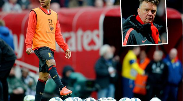 Raheem Sterling is wanted by Louis van Gaal (inset) according to reports