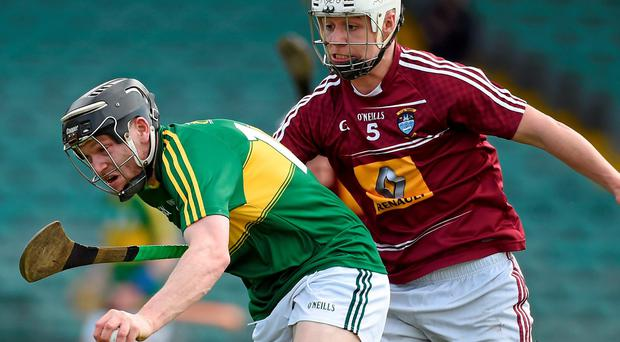 Colm Harty, Kerry, in action against Gary Greville, Westmeath
