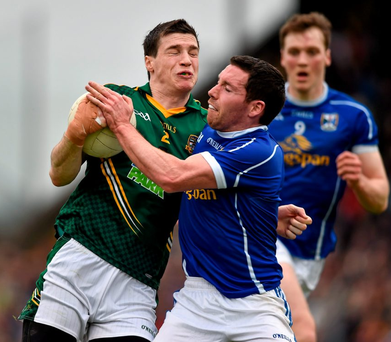 Meath's Donnacha in action against Ronan Flanagan at Pairc Tailteann. Picture credit: Ray McManus / SPORTSFILE