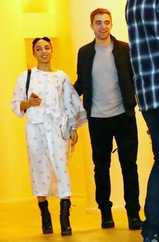 Singer FKA Twigs and Robert Pattinson