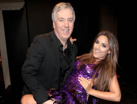 Nadia Forde with John Delaney at Strictly Soccer Charity Fundraiser in aid of John Giles' Foundation and Ireland's Street Leagues Pic: Brian McEvoy