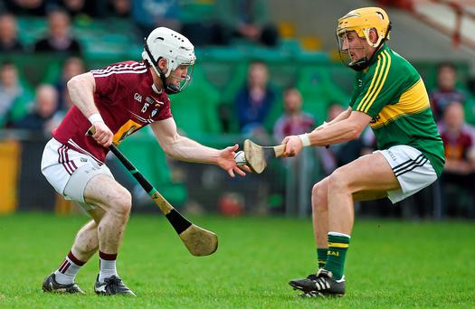 Westmeath's Alan Devine in action against John Griffin of Kerry