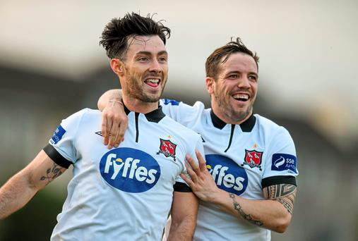 Dundalk players Richie Towell and Darren Meenan