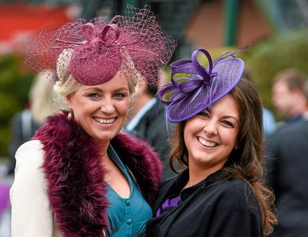 Tracey Crowe and Ciara Byron, from Tipperary, at Fairyhouse