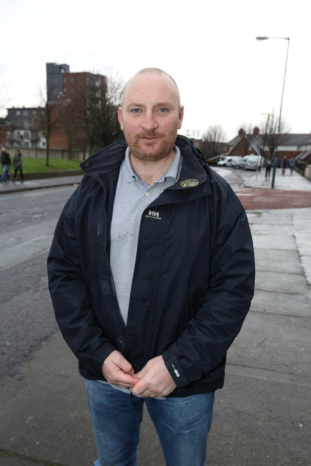 Anti Water Charges protester, Damien Farrell.