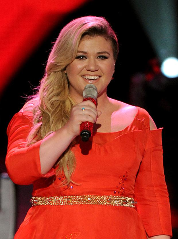 Singer Kelly Clarkson performs onstage at FOX's