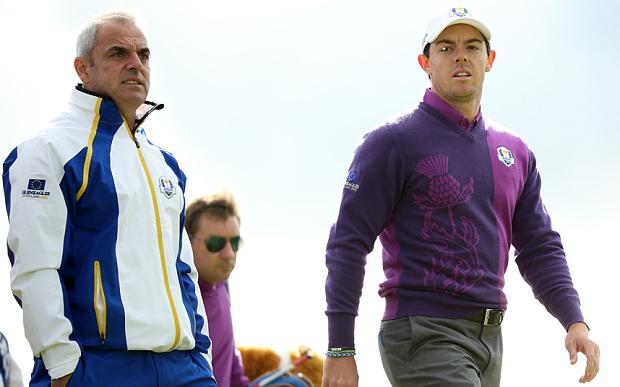 Paul McGinley with Rory McIlroy