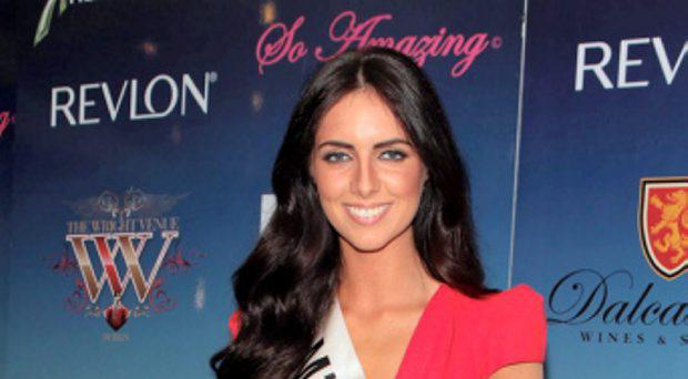 Miss Buck Whaley's Jessica Hayes at the final of Miss Ireland 2014