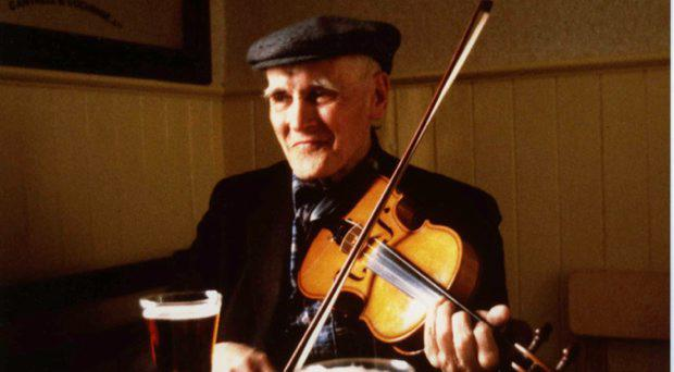 John Doherty. Pic: Eamonn ODoherty, courtesy of the Irish Traditional Music Archive
