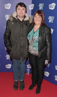 Michael Donohoe and Brenda Donohoe at the opening night of Jersey Boys at the Bord Gais Energy Theatre