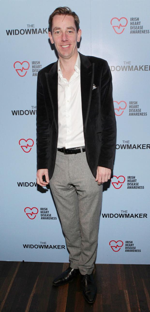 Ryan Tubridy pictured at the Irish premiere of The Widowmaker