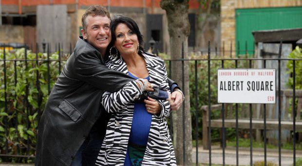 Alfie Moon (Shane Richie) Kat Moon (Jessie Wallace) in EastEnders. The pair are tipped to star in the new spin-off which is to be set in Ireland