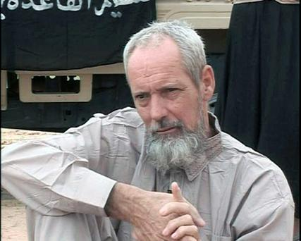 French special forces unexpectedly found and freed a Dutch hostage during a dawn assault on al-Qa'ida fighters in the Sahara desert in northern Mali yesterday - Sjaak Rijke (54) was kidnapped more than three years ago (AFP PHOTO/AL-JAZEERA/HO)