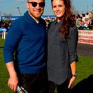 Pictured is Irish International Ian Madigan and his girlfriend Anna Kirwan at the Fairyhouse Easter Racing Festival featuring the Boyle Sports Grand National.Photo Chris Bellew / Copyright Fennell Photography 2015