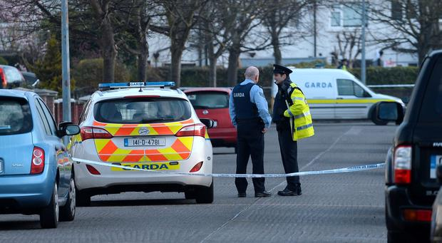 General view of Gardai at scene at Whitethorn Crescent, Artane, Dublin. Picture: Caroline Quinn
