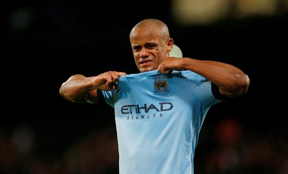 Vincent Kompany reacts after last night's match