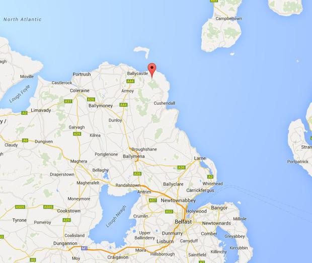 The location of the Ballycastle crash