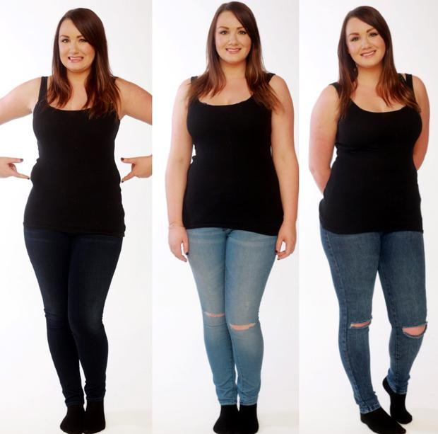 Vicki Notaro tries on size 12 jeans in seven different high street stores