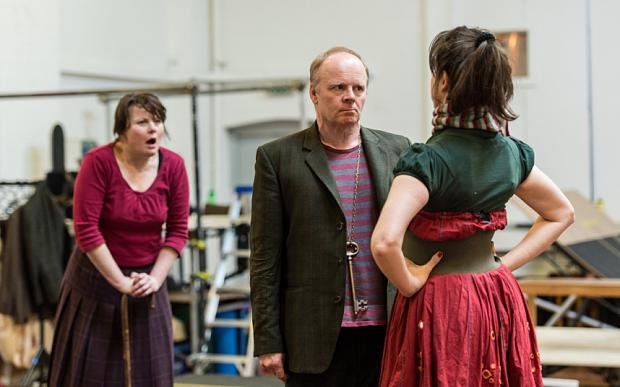 Jason Watkins and Monica Dolan in rehearsal: The Twits are creative people, but wired in a bad way