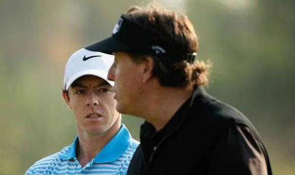 Rory McIlroy and Phil Mickelson will be in the same group for the opening two rounds of the 2015 Masters at Augusta