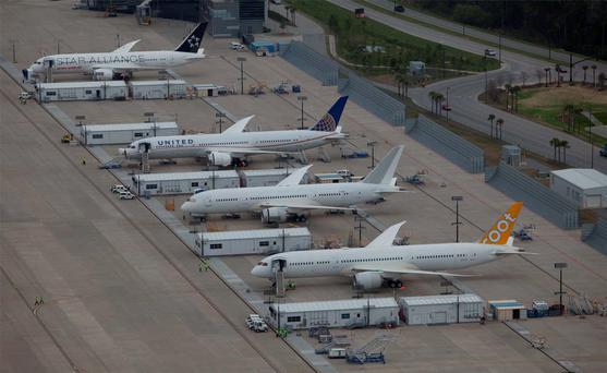 An aerial view shows the final assembly area at the Boeing plant in North Charleston, South Carolina. Photo: Reuters