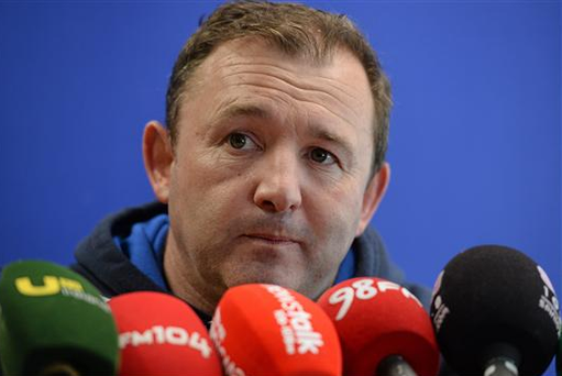 There was a sense of deja vu as Richie Murphy yesterday told the assembled media that Leinster's backs are close to clicking and that if they started taking the opportunities that presented themselves they'd be winning games more comfortably and in finer style (Sportsfile)