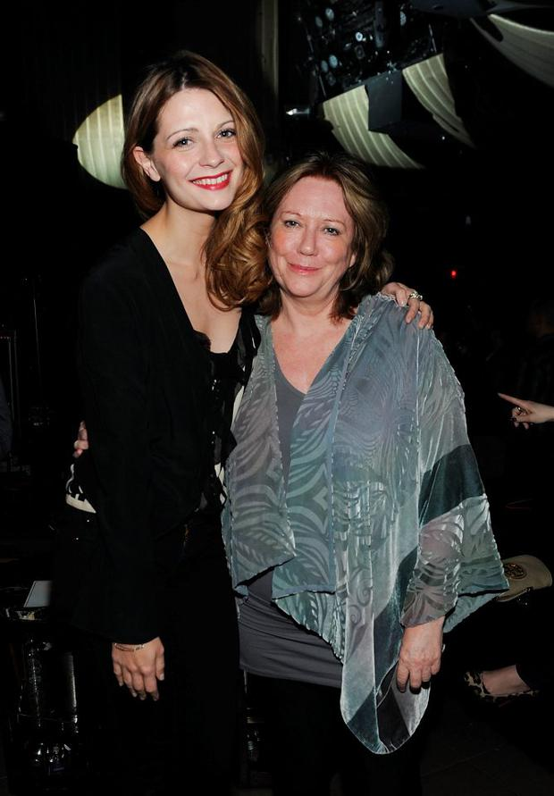 Mischa Barton (L) and mother Nuala Barton attend Marquee Nightclub at The Cosmopolitan of Las Vegas on February 13, 2012 in Las Vegas, Nevada. (Photo by Denise Truscello/WireImage)