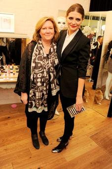 Mischa Barton (R) and mother Nuala attend the Mischa Barton Boutique flagship store launch party at Old Spitalfields Market on August 8, 2012