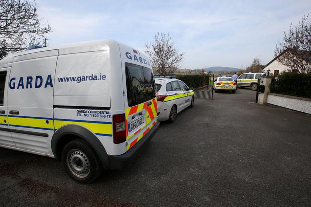 Gardai at the scene of the body of missing Wicklow woman Anne Shortall was discovered in Kiloughter County Wicklow. Pic Frank McGrath