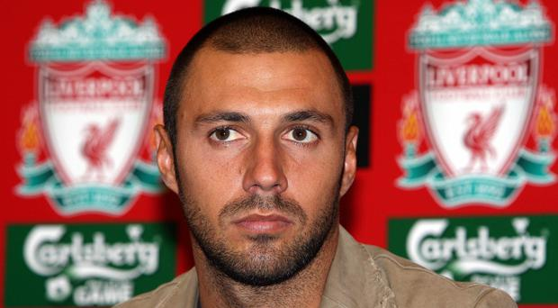 Andrea Dossena when he signed for Liverpool