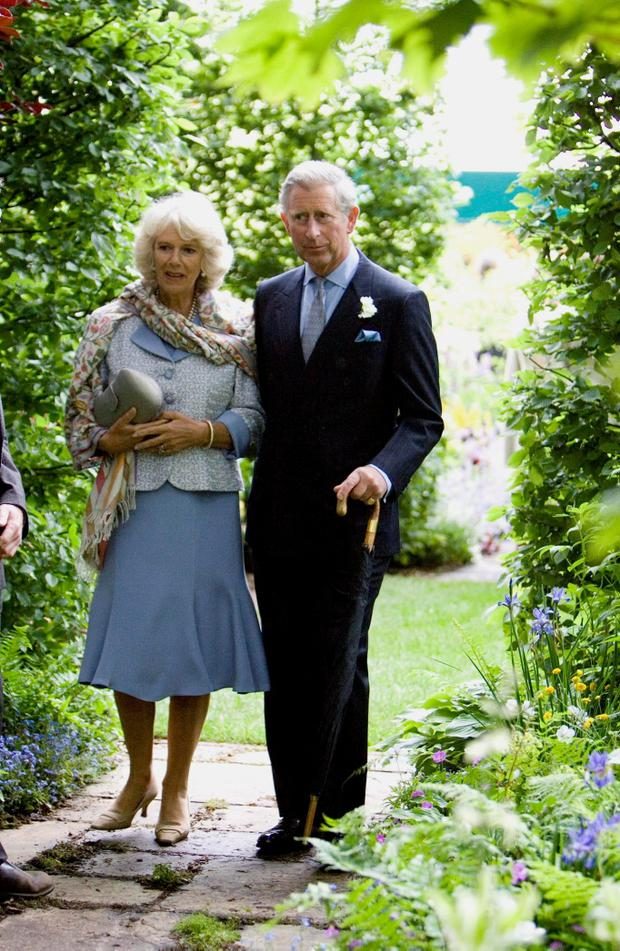 2007: Britain's Duchess of Cornwall and the Prince of Wales at the Chelsea Flower Show as this week marks the Royal couple's 10th wedding anniversary. Photo: Michael Dunlea/Daily Mail/PA Wire