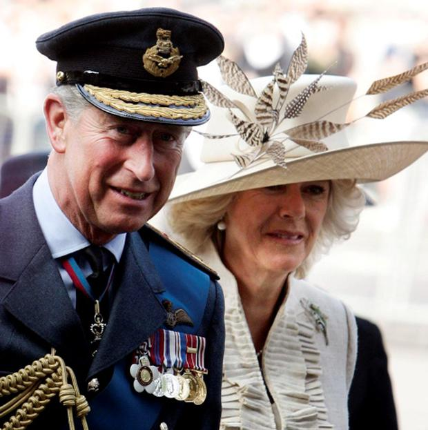 17/09/06: Britain's Prince of Wales and the Duchess of Cornwall arrive for a Battle of Britain Service of Thanksgiving and Rededication at Westminister Abbey, London. Photo: Andrew Parsons/PA Wire