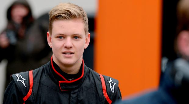 Mick Schumacher, son of Michael Schumacher, looks on during the ADAC GT Masters 2015 Test Days at Motorsport Arena Oschersleben on April 8, 2015 in Oschersleben, Germany. (Photo by Getty Images/Bongarts/Getty Images)