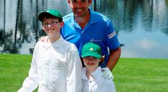 Padraig Harrington with his sons Patrick and Ciaran