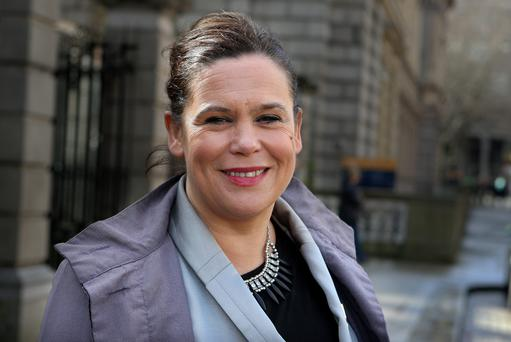 Mary Lou McDonald named the former politicians on in the Dail in December