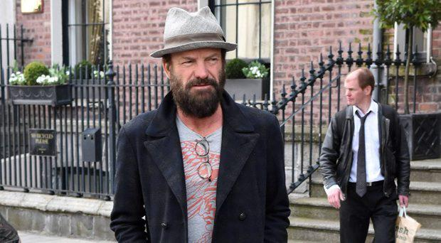 Sting spotted leaving The Merrion Hotel sporting a full hipster beard, Dublin,