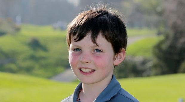 Charlie Quinn, who plays a young Rory McIlroy in an upcoming Nike Ad, pictured at Castle Golf Club in Rathfarnham, Dublin
