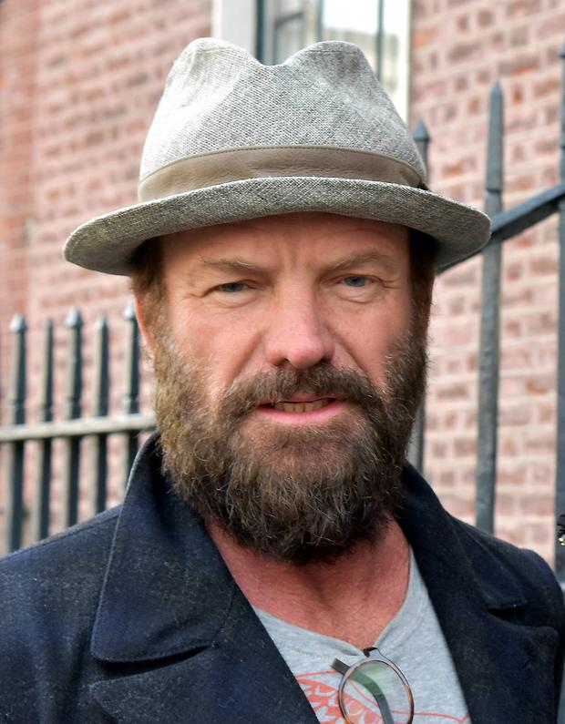 Sting (real name Gordon Sumner) spotted leaving The Merrion Hotel sporting a full hipster beard, Dublin, Ireland - 08.04.15.