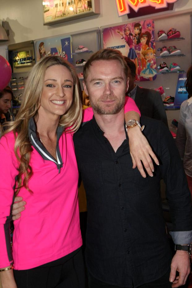 Storm Uechtriz and Ronan Keating launch limited edition Skechers 'Go Walk 2' shoe in aid of Marie Keating Foundation. For every pair of special edition shoes sold (€65), €10 will go towards The Marie Keating Foundation.