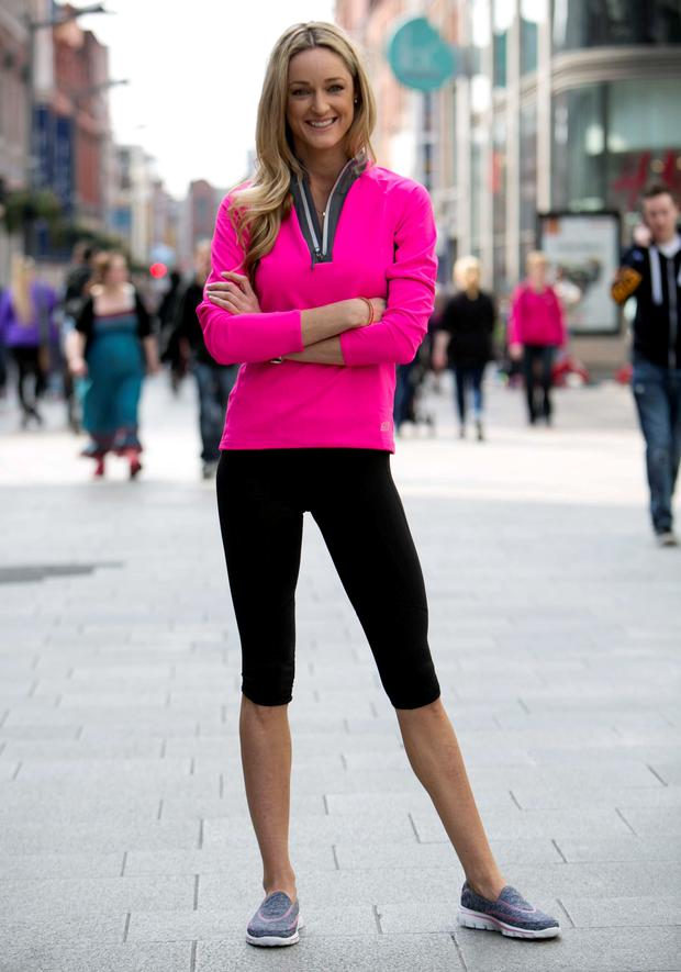 Storm Uechtriz launches limited edition Skechers 'Go Walk 2' shoe in aid of Marie Keating Foundation. For every pair of special edition shoes sold (€65), €10 will go towards The Marie Keating Foundation.