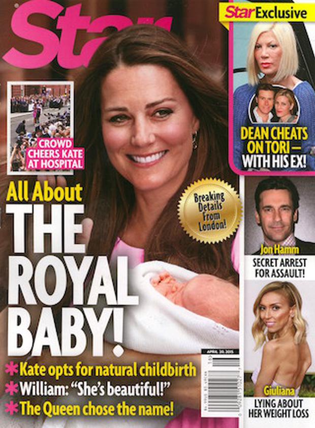 Star Magazine claims that Kate Middleton has given birth