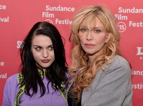 Frances Bean Cobain and Courtney Love attend the