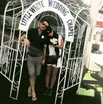 When in Vegas! Davina McCall and husband Matthew renew their vows in suitably casual attire