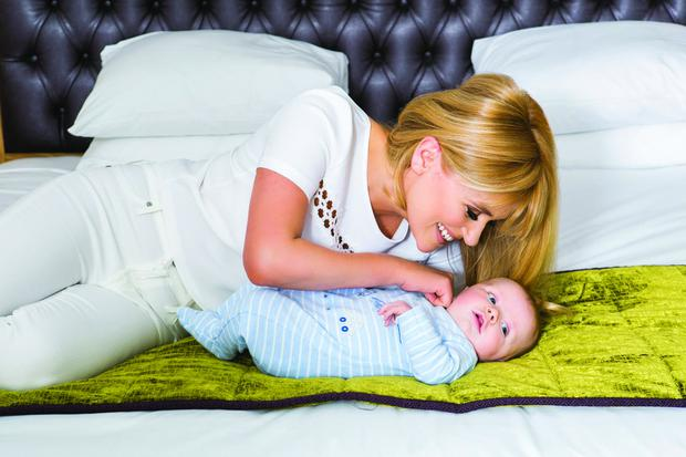 Karen Koster and baby Finn. Picture: VIP Magazine