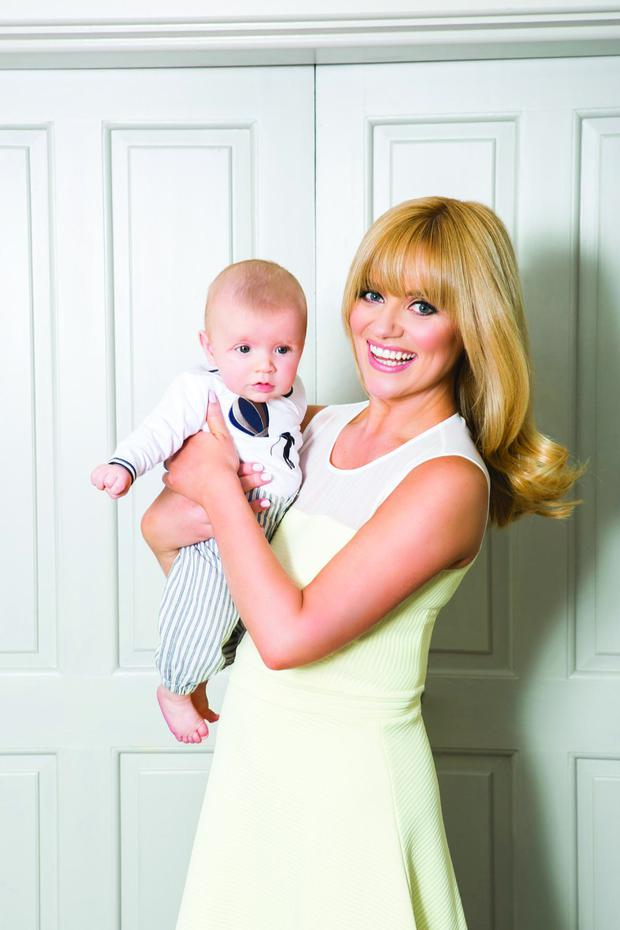 Karen Koster poses with son Finn. Picture: VIP Magazine