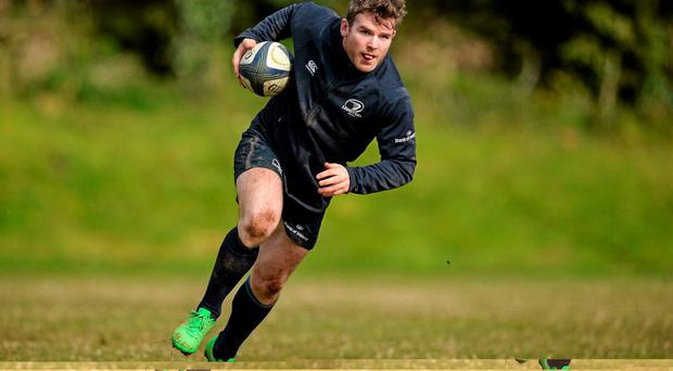 Leinster's Gordon D'arcy in action during squad training
