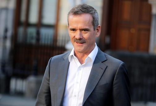 Astronaut Chris Hadfield arriving at the Mansion House for Pat Kenny's new chat show