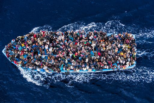 Some 50,000 migrants have landed in Italy since 2014 after they were rescued Credit: Massimo Sestini/Polaris
