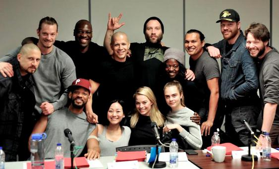 Suicide Squad cast - Pic David Ayer/Twitter