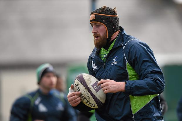 Connacht's Aly Muldowney during squad training